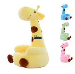 Wholesale Cute Giraffe Stuff - Dorimytrader 28''   70cm Giant Stuffed Soft Plush Cute Large Cartoon Giraffe Deer Kid Sofa Tatami, 4 Colors, Free Shipping DY60511