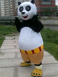 Wholesale Kung Fu Panda Outfit - 2016 brand new Mascot mushroomstreet Free shipping Halloween Outfit Costumes suit cartoon Kung Fu Panda mascot costume for adults Pandamen