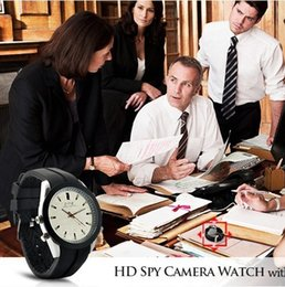Wholesale Spy Waterproof Mp3 Watch - 4G 8GB MP3 Player Hidden Spies Camera 640*480 Ultra-thin Leather Strap Camera Watch Waterproof Retail BOX