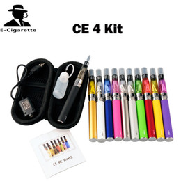 Wholesale Ego Starter Kit Ce4 V2 - eGo T CE4 Starter Kit Zipper Case 650mah 900mah 1100mah With eGo T Battery CE4 Atomizer VS EGO T MT3 X6 V2