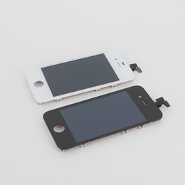 Wholesale-100% Guarantee For  4s LCD Display+Touch Screen Digitizer+Frame Assembly White Black 111 от