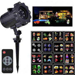 remote control patterns Promo Codes - Christmas Lights Projector 16PCS Pattern Waterproof Projector Landscape Lighting with Remote Control for Halloween Party Garden Decorations