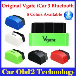 Wholesale Elm327 Fiat - 5 Colors Available 2015 New Arrival Vgate iCar3 Bluetooth OBD Scanner iCar 3 elm327 Bluetooth Diagnostic Interface Free Shipping