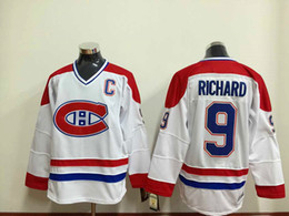 437611230d5 ... Hockey Jerseys Montreal Canadiens 9 Maurice Richard White Vintage Ice  HockeyThrowBack CCM Jersey Stitched Jersey ...