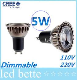 Wholesale 5w B15 Led Bulbs - Hot Selling COB 5W Led Lights GU10 E27 GU5.3 MR16 Dimmable Led Spot Bulbs Light Warm Cool White 500 Lumens CRI>85 Energy Saving 11-240V 12V