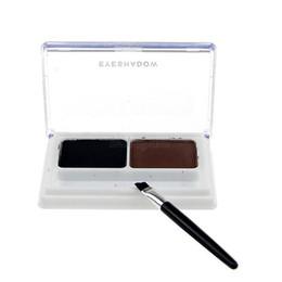 Wholesale Eye Shading Brush - Wholesale- Eye Brow Powder Palette Shading Brush Makeup Eyebrow Cosmetic Kit 2 Colors