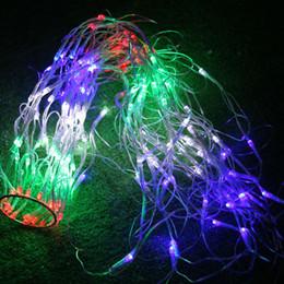 Cadenas de colores online-Impermeable RGB Spider LED Cadena neta 1.2M 120 LED Luz de hadas colorida Fiesta de Navidad Boda LED Cortina Cadena Luces Gadern Lámpara de césped