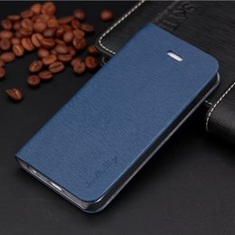 Wholesale Iphone 5c Case Lining - Wholesale-Toq Quality Leather PU Flip Case Stand Cover for Iphone 5C Mobile Phone Cases Fashion Wood lines Card Horder Design PY