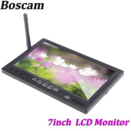 Wholesale Wireless Lcd Dvr - Boscam 5.8G 32CH 7inch Wireless FPV Integrated Thin HD LCD Monitor AAT Port Receiver DVR Recorder RC800 Black order<$18no track