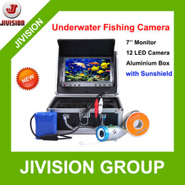 "Wholesale Underwater Fishing Videos - Sunshield 7"" TFT LCD Fishing Camera Kit Fish Finder 800TVL Underwater Video Camera System 12pc light Night Vision Fishing Finder"