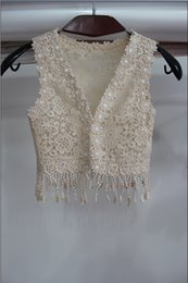 Wholesale Cheap Vest Wrap - Princess Cheap Sexy Lace Wedding Accessories Coats Shawl Formal Tippet Cape Jackets Long Vest Bridal Wraps 2017 Champagne For Party Evening