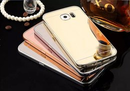 Wholesale Metal Bumpers For Galaxy S3 - Mirror Bling Case +Aluminum Bumper For Galaxy S6 Edge Plus Note 2 3 4 5 J1 ACE J2 J3 S4 S5 S3 huawei G620,HONOR 7 4X 4C 5X Hybrid Hard Skin