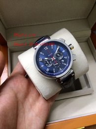 v watches Coupons - Top Quality Wristwatch Luxury L & V REGALE TAMBOUR BLUE CHRONOGRAPH Watch Wrist Mens Watch