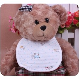 Wholesale Cheap Bibs - Wholesale- 12pcs Lot 100 Cotton 2 layers Cheap Baby Bibs Waterproof With Sleeves Boy Girls Cycling Infant Bibs Wholesale Free Shipping 2014
