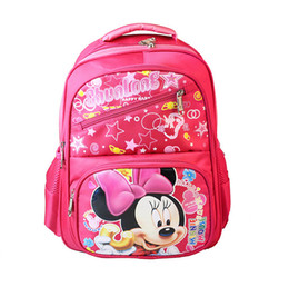 Wholesale Boys Schoolbags - Kids School Bags Children Schoolbags Children Backpack Boys Girls Mickey Bookbag 39*30*13cm 5p l free shipping