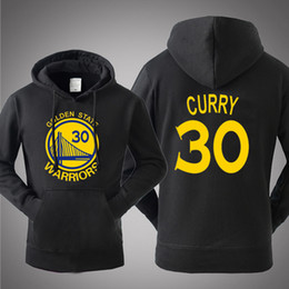Wholesale Red Warriors - New Hot Sale Hooded Pullover Basketball Golden State Stephen Curry Warriors Spring Autumn Winter Hoodies Men Cotton Sports Sweatshirts