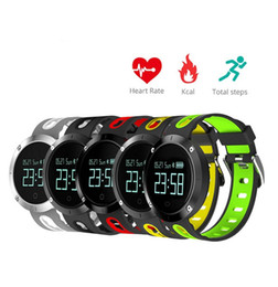 Wholesale Iphone Blood - DM58 Bluetooth Sports Wristband Heart Rate Smart Watch Blood Pressure Monitor IP68 Waterproof Heart Rate For iPhone Android