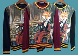 Wholesale Zombie Sweatshirt - Autumn and winter Luxury Brand clothing men Werewolf sweatshirts fashion zombie vampire men hoodies size Asian M-XXL