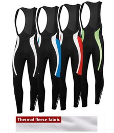 Wholesale Thermal Tights Cycling Team - hot 2014 male thermal fleece winter Bib pants tights team Cycling Bib pants  tights cycling Mounton racing Ciclismo clothing strap pants
