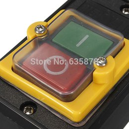 Wholesale Stop Switches - On Off I O Start Stop Water Proof Push Button Waterproof Pushbutton Switch 10A 250V 380V AC Free Shipping order<$18no track