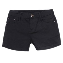 Wholesale Skinny Jeans Women Candy Color - Wholesale- SYB 2016 NEW Summer Denim Shorts Slim Fit Candy Color Short Pants Short Jeans Women Shorts Denim black