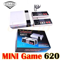 Wholesale Android Game Player Tv - Mini PAL&NTSC TV Handheld Game Consoles Video Game Players Entertainment System Built-in 620 Different Built-in Games with 2 Controllers