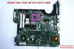 Wholesale Motherboard Hp Dv5 - Wholesale-Original laptop motherboard for HP DV5 DV5-1000 482867-001 mainboard PGA478 DDR2 Non-integrated Fully tested&Free shipping