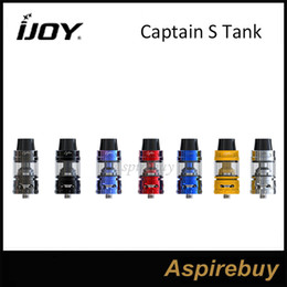 Wholesale Top Less - IJOY Captain S Subohm Tank 4ML Sliding Top Fill Thread-Less Coil Head Design Delrin Widebore Drip Tip Unique Groove Chassis 100% Original