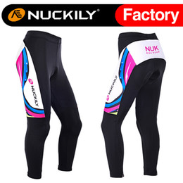 Wholesale Plus Size Winter Tights - Nuckily Hot selling women winter warmer fleece padded cycling tights wholesale with best quality bicycle long pants GF002