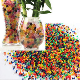 Wholesale Magic Flower Beads - 1000bags=10000pcs jelly Crystal Mud Soil beads Wedding Decor Magic flower plant magic ball mud bags dim wed Soil-Water Beads Water Pearls