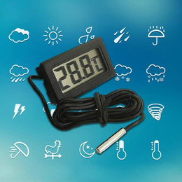 Wholesale Tank Thermometer - 1pc LCD Display Car refrigerator aquarium fish tank embedded electronic digital thermometer # SZ01049