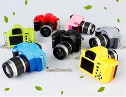 Wholesale Camera Led Light Keychain - Wholesale Single Lens Reflex SLR Camera Style LED Flashlight Shutter Sound Keychain Cameras style key chain