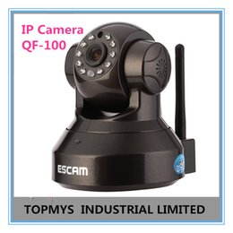 Wholesale Hd Software - ESCAM 720P HD P2P Plug and Play Wireless IP Camera CCTV Camera Home Security ipcamera Free Iphone Android App Software QF-100