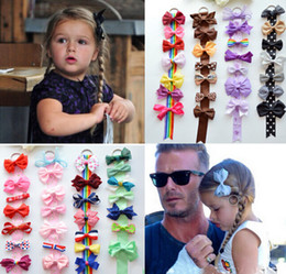 Wholesale Hair Clips Tape - Xmas Boutique Harper Seven Beckham princess bows Storage tape set combination hair clip hanger display shelves Ribbon Holder Hairpin HD3391
