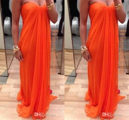 Wholesale cheap feather dresses - Sheath cheap cocktail dress Sweetheart Ruffles Floor Length Chiffon Formal Dresses Evening Zipper Back cheap prom homecoming dress