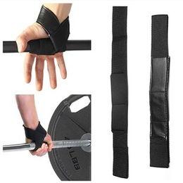 Wholesale Wrist Hand Brace - Weight Lifting wrist support wraps Hand Bar Wrist Brace Support Gym Straps Weight Lifting wrap Body Building Grip Gloves 2pcs pair