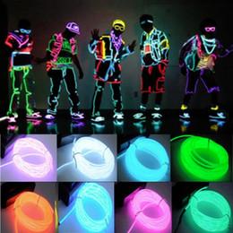 tira flexible led naranja Rebajas US 5M / 16ft Flexible EL Wire Neon LED Light Rope Party Car Decorati