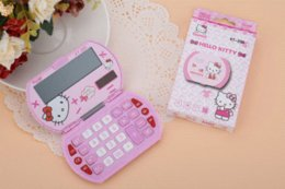 Wholesale Mini Calculator Gift - pink mini cute solar handheld Hello Kitty calculator for student Christmas gift computer promotion computer monitor with tv input