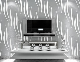 Wholesale Home Kitchen Decor - 3D Wallpaper Home decor TV background Non woven wall paper roll