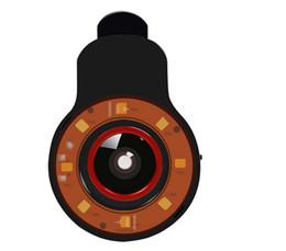Wholesale Tablet Fisheye Lens - Black 9in1 Night Using Beauty Selfie Sycn Special Effect Phone LED Flash Light w  Micro Fisheye Wide Lens f Camera Phone Tablet