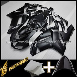 Wholesale Motorcycle Body Kit For Kawasaki - 23colors+8Gifts BLACK Aftermarket Plastic Fairing for Kawasaki ZX6R 07 08 ZX-6R 2007 2008 07 08 bodywork Motorcycle Body Kit