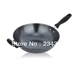 Wholesale Gas Wok - non-stick cookware wok without coating without fume really stainless wok iron wok electromagnetic furnace gas furnace 34cm