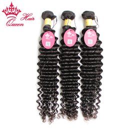 Wholesale Deep Wave 28inch - Queen Hair Peruvian Curly Virgin Hair Extensions Deep Wave Deep Curly Virgin Hair 3pcs Lot Factory Out Price 12 to 28inch