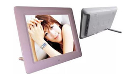 Wholesale Lcd Tft Mp4 - Free shipping Digital Photo Frames 7inch TFT LCD Wide Screen Desktop Digital Photo Frame glass Photo Frame