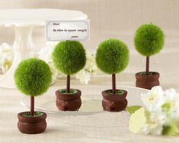 Wholesale Table Place Holders Wedding - DHL Wedding Favor green potted place card Wedding Place Card Holder Table Decoration 200 pcs lot Not including the card