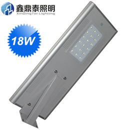 Wholesale Outdoor Parking Light Sensor - Wholesale- 18W Energy Saving Solar LED Street Light Road Garden Park Light with Sensor Outdoor Integrated LED Light