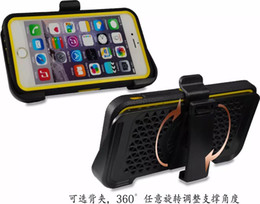 Wholesale Iphone Hard Case Holster Clip - Clip Belt Holster Hard PC Hybrid Case+Touch Screen Protector+Soft TPU Bumper Frame For Iphone 6 6S Plus 5 5S 5SE SE Galaxy S6 Note5 Note 5