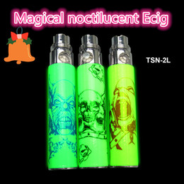 christmas gift ego Promo Codes - Newest Christmas Gift Electronic Cigarette TSN 2L Magical noctilucent battery TSN-2L ego battery for CE4 atomizer