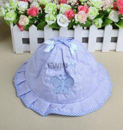 Wholesale Infant Summer Bucket Hats - Infant Visor Sun Hats Caps New Fashion Soft Cotton Baby Sun Hats Children Girls Sun Polka Bucket Hat