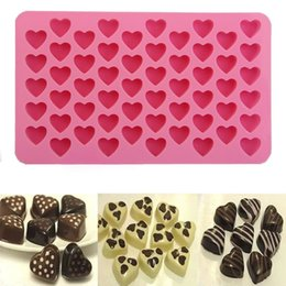 Wholesale Cupcake Soaps - 1 PCS Hot Sale Silicone Ice Cube Chocolate Cake Cookie Cupcake Soap Molds Mould Tool 55-Hearts